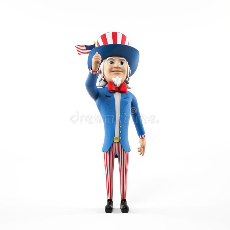 Download Uncle sam character stock illustration. Image of retro - 25524635