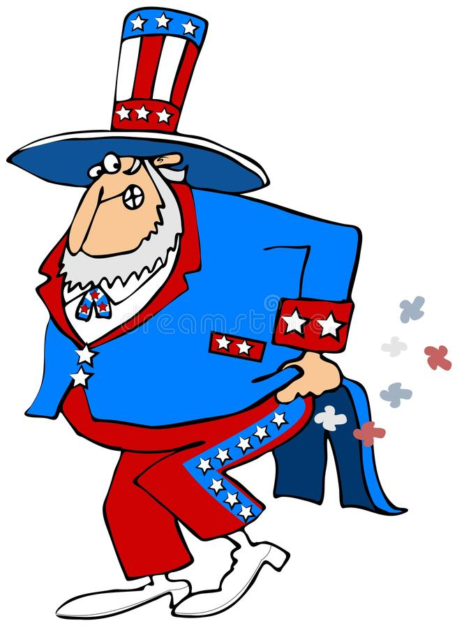 Download Uncle Sam has gas stock illustration. Image of odor, cartoon - 36139798