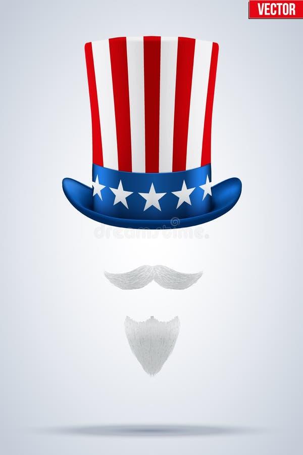 Uncle Sam Hat Vector Illustration Stock Vector Illustration Of