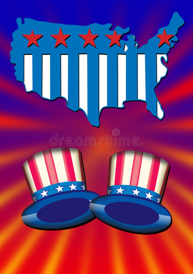 Uncle Sam Hats stock photo