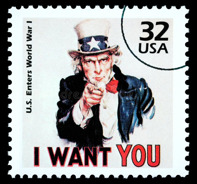 Free Uncle Sam Postage Stamp Royalty Free Stock Photos - 16101858