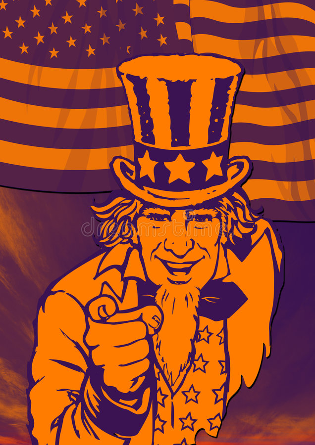 Uncle Sam for poster royalty free stock photos
