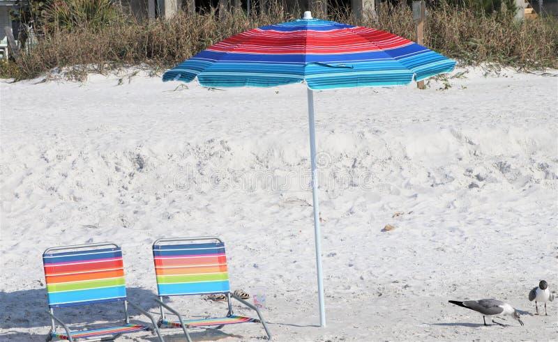 uncluttered strand på den Clearwater stranden Florida fotografering för bildbyråer