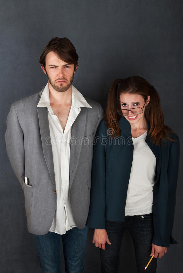 Uncomfortable Couple Royalty Free Stock Image