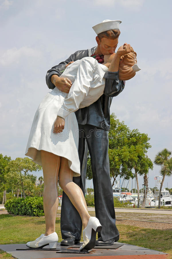 Unconditional Surrender Statue In Sarasota Editorial Image