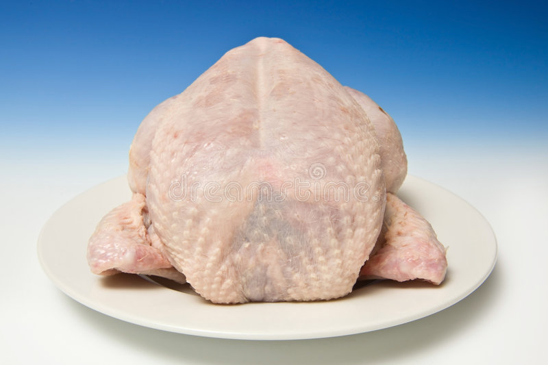 Uncooked chicken royalty free stock images
