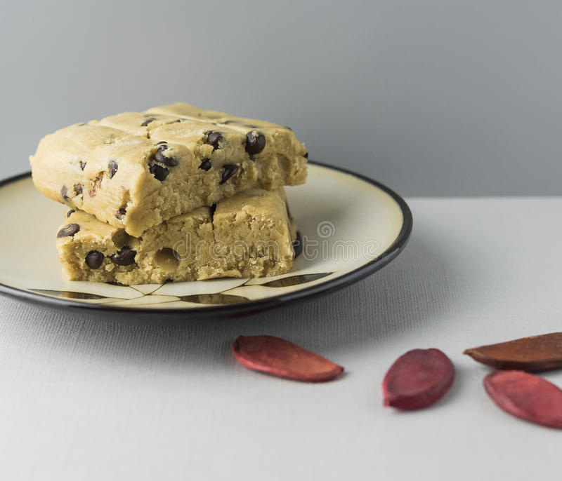Uncooked Cookie Dough stock photography