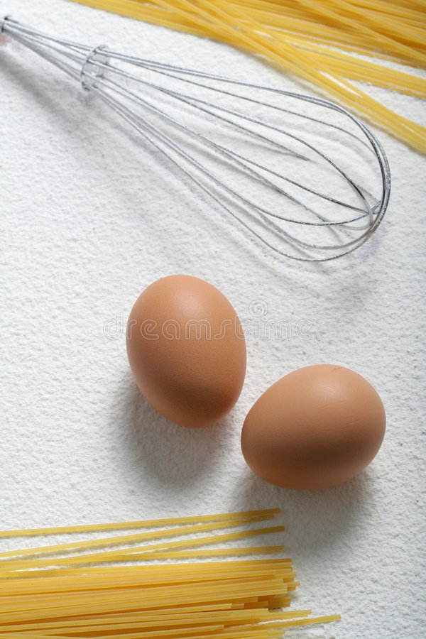 Download Uncooked Macaroni, Whisk And Eggs Stock Photo - Image: 4790380