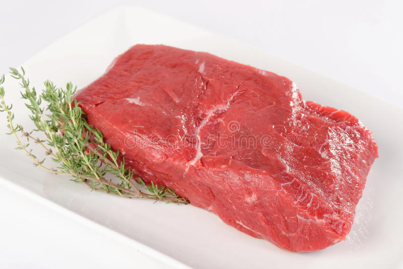Uncooked meat : raw fresh beef pork fillet. Ready to cooking stock photography