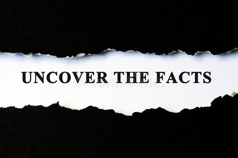 Uncover the facts concept stock photos
