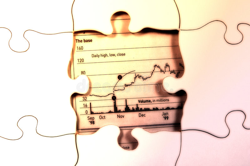 Uncovered Value. Photo of a Puzzle With a Stock Chart Showing Where Last Piece Should Be