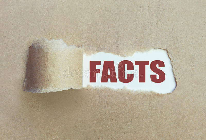 Uncovering the facts royalty free stock image