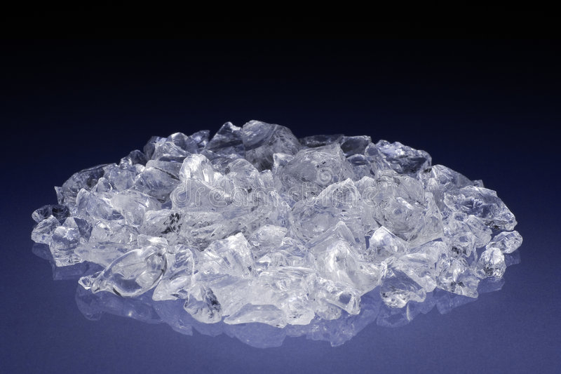 Uncut diamonds or crystals stock photo