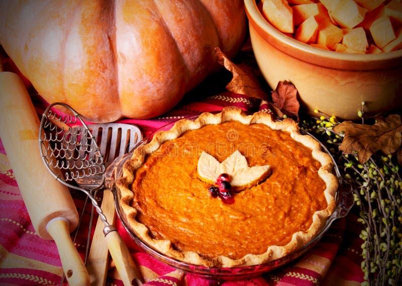 Uncut Homemade Pumpkin Pie