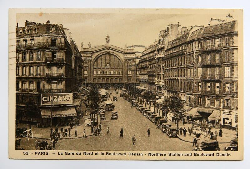 Und Boulevard Denain in Paris, Frankreich lizenzfreies stockfoto