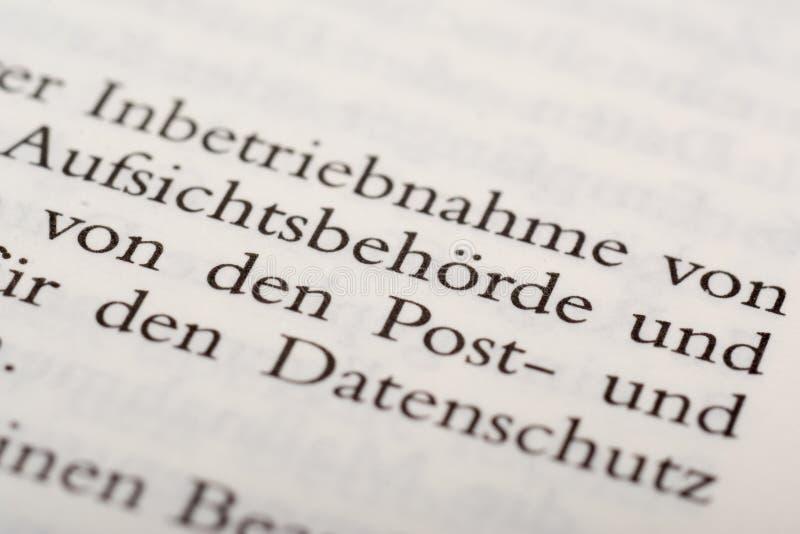 Und Datenvermeidung di Datenschutz immagini stock libere da diritti