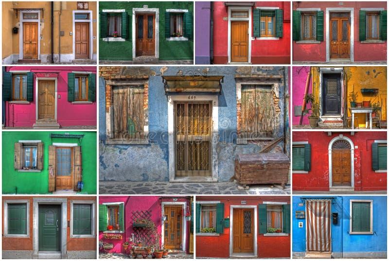Und Fenster von Burano (Venedig) de Türen images libres de droits