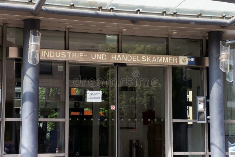 Und Handelskammer de Industrie en Nuremberg imagen de archivo