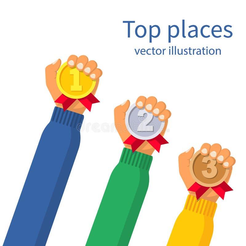 1., 2. und 3. Plätze vektor abbildung
