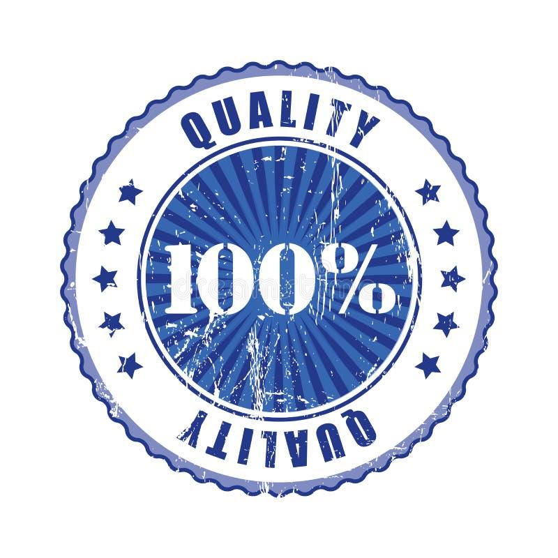 100% und Qualitäts-blauer Stempel vektor abbildung