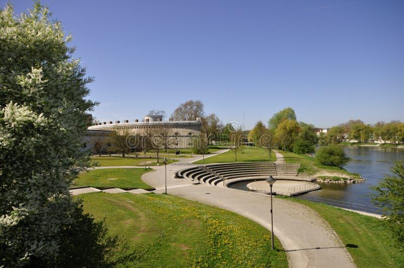 Und Reduit Tilly de Danubio en Ingolstadt foto de archivo libre de regalías