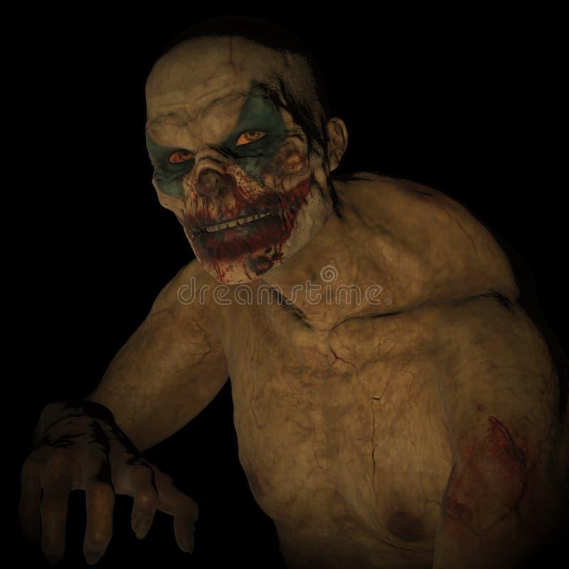 Download Undead clown stock illustration. Illustration of figure - 68317160
