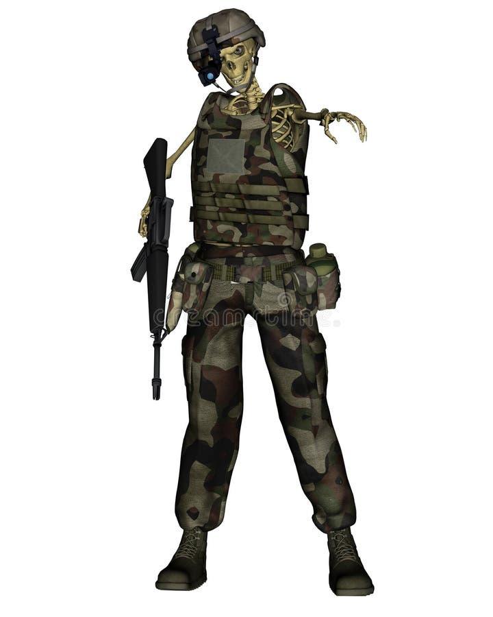 Download Undead Jungle Soldier Skeleton Stock Image - Image: 6737311
