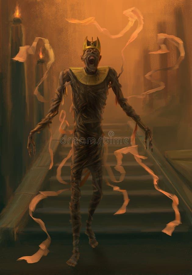 Undead mummy vector illustration