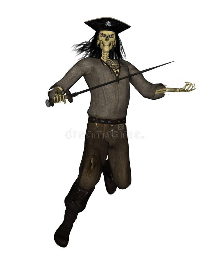 Download Undead Pirate Skeleton - 2 stock illustration. Image of sabre - 6686450