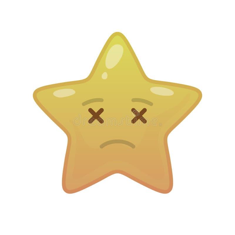 Undead star shaped comic emoticon royalty free illustration