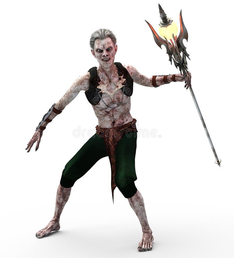 Undead-Vampir mit Zepter stock abbildung