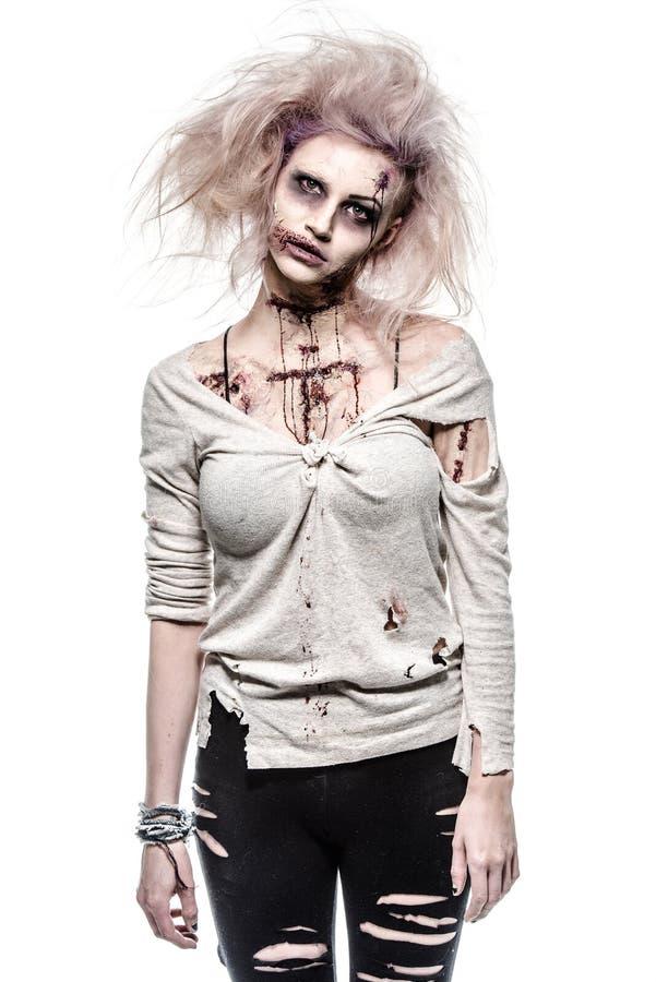 Undead zombie girl stock photos