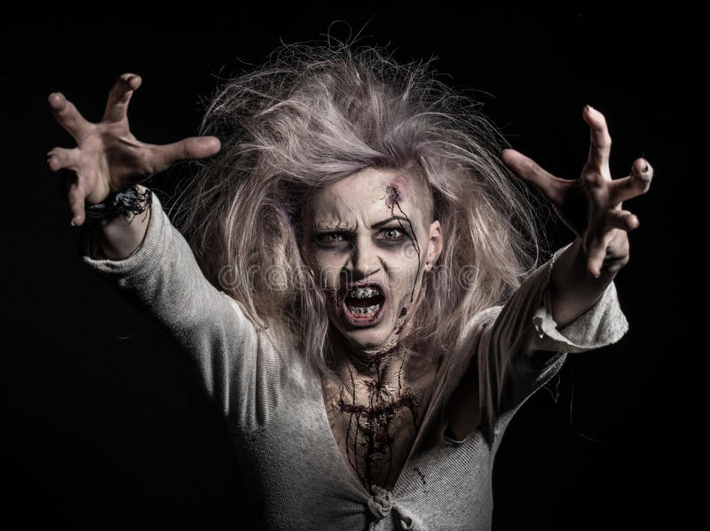 Undead zombie girl royalty free stock photos