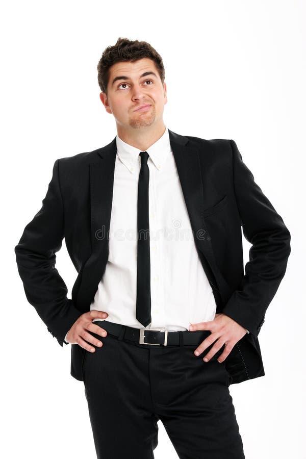 Undecided businessman stock image