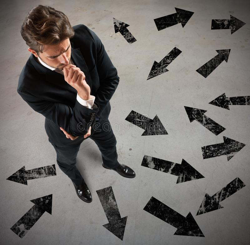 Undecided businessman stock images
