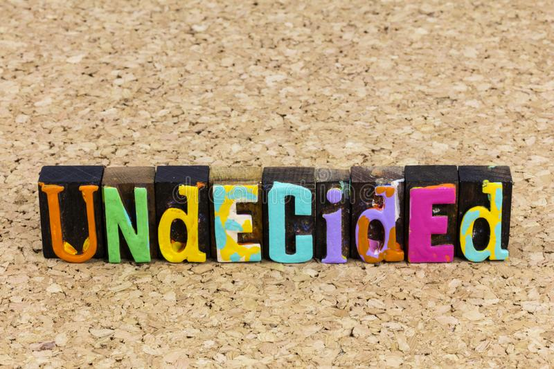 Undecided decision confused gesture positive thinking problem choice answer royalty free stock photos