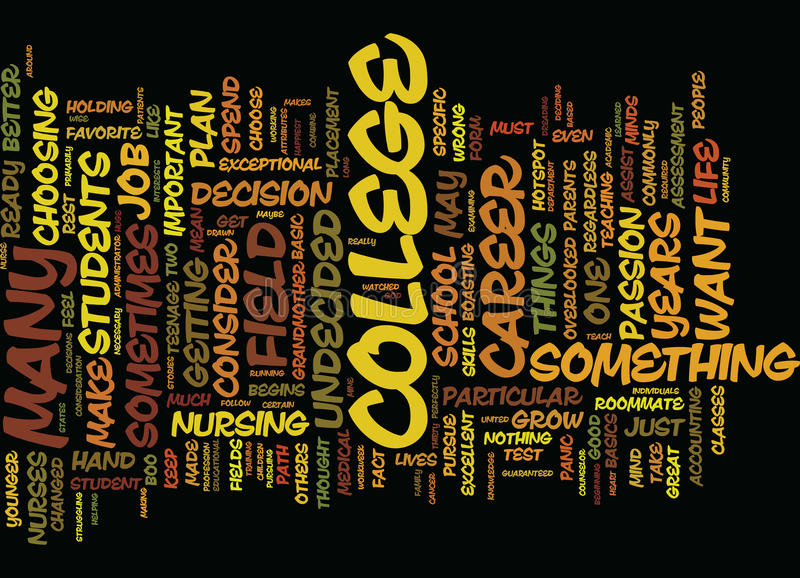 From Undecided To Decided A College Journey Word Cloud Concept. From Undecided To Decided A College Journey Text Background Word Cloud Concept vector illustration