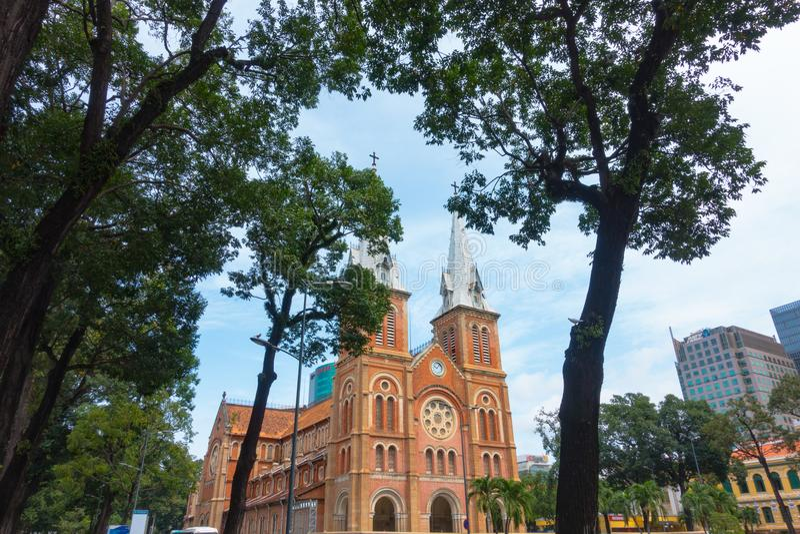 Notre-Dame Cathedral Basilica of Ho Chi Minh City - September 2017, Ho Chi Minh City, Vietnam stock image