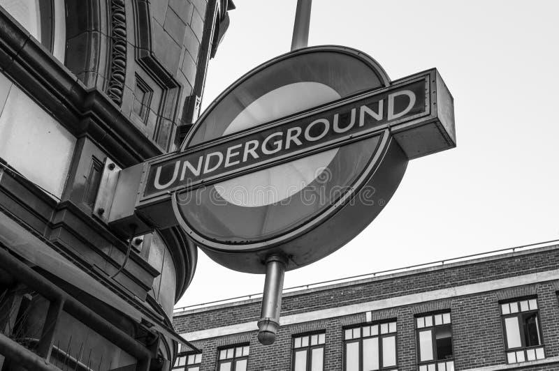 Undeground en Londres, Reino Unido fotografía de archivo