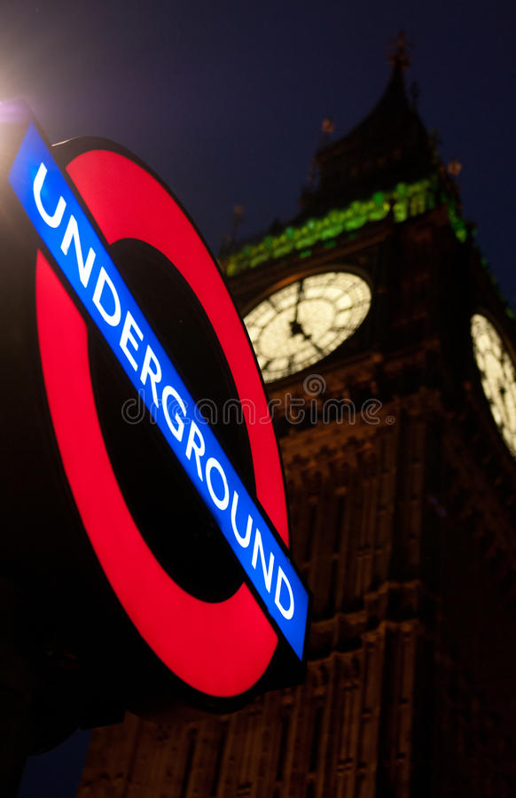 Download Undeground sign post editorial photo. Image of vertical - 29020611