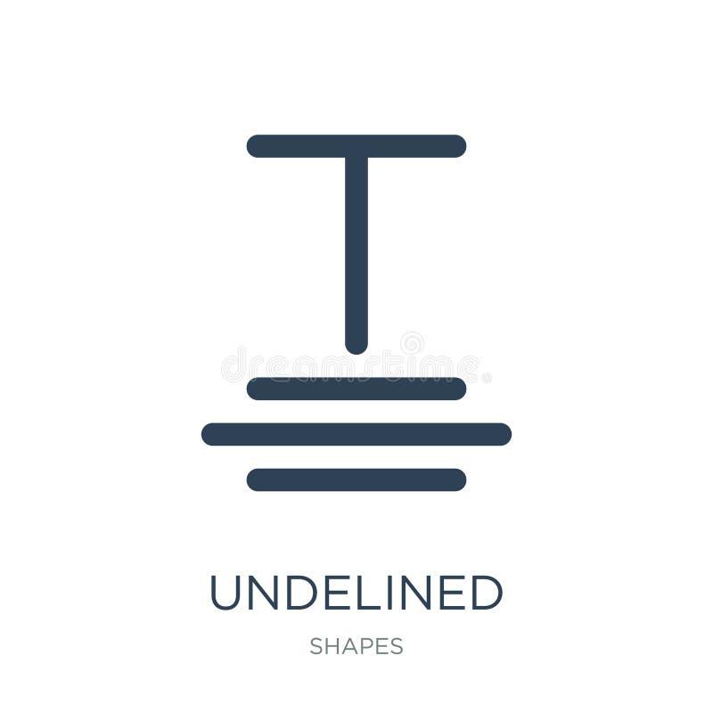 undelined значок в ультрамодном стиле дизайна undelined значок изолированный на белой предпосылке квартира undelined значка векто бесплатная иллюстрация