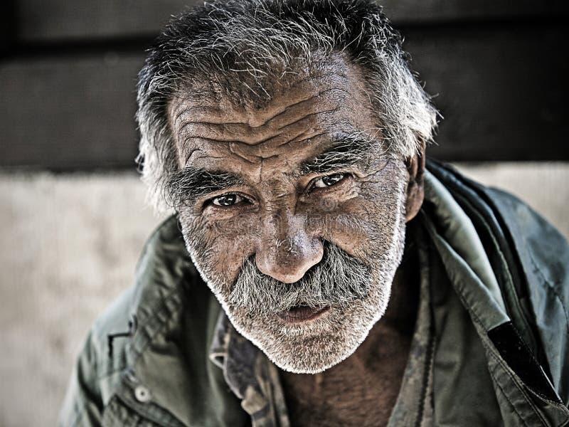 Undentified de dakloze mens royalty-vrije stock foto's
