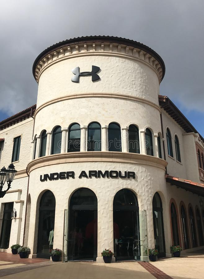 Under Armour Store Disney Springs. The Under Armour Store located in Disney Springs, Orlando, Florida stock photo