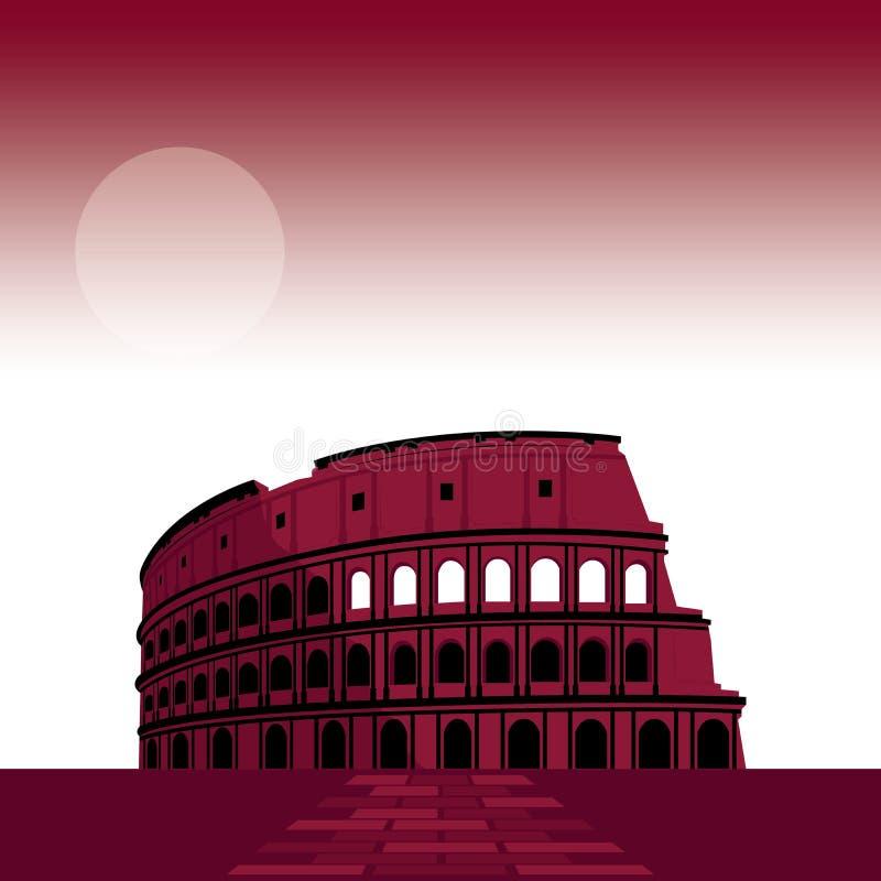 Under 7 av världen Roman Theater stock illustrationer