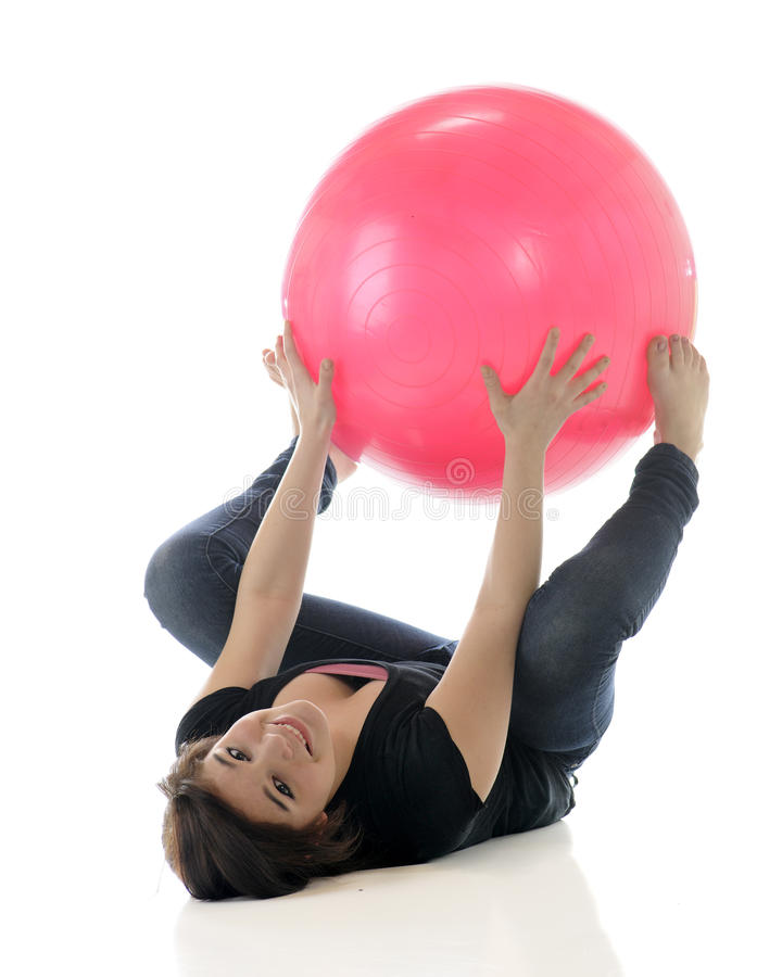 Download Under the Ball stock image. Image of back, young, background - 24376813