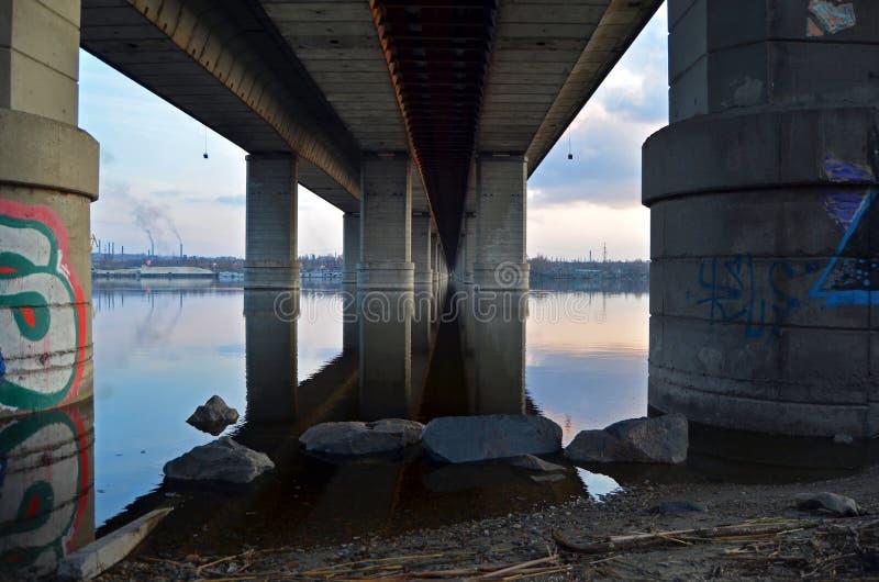 Under the bridge stock photography
