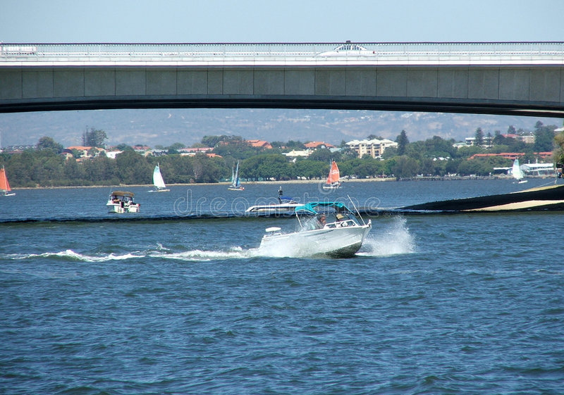 Download Under the bridge stock photo. Image of dingy, cruise, vacation - 164798