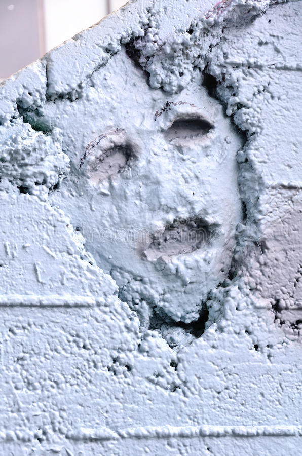 Under the Bridge. Concrete face Under the Burnside Bridge in Portland Oregon royalty free stock photo