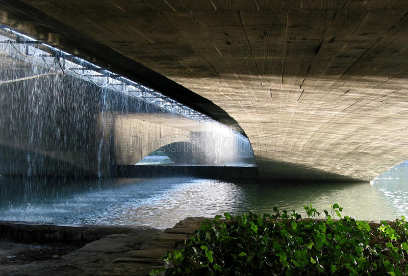 Under the bridge in Esfahan stock image