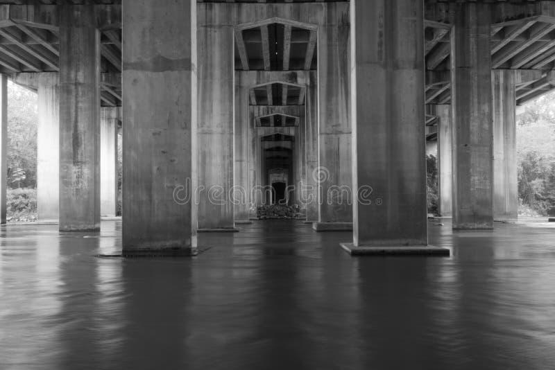 Under Bridge. I 75 atlanta georgia along the Chattahoochee River stock photography